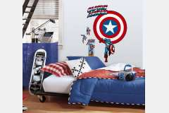 vinilo decorativo reutilizable captain america